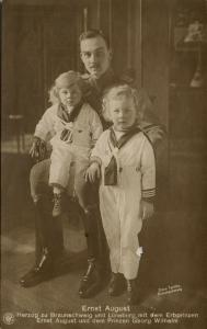 germany, Duke of Brunswick and Lüneburg Ernest Augustus III with Sons (1910s)