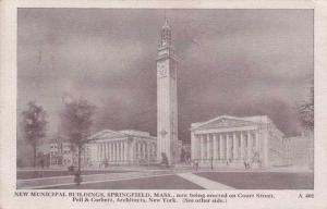 New Municipal Buildings - Springfield MA, Massachusetts - pm 1915