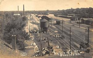 Beatrice NE Railroad Station Train Depot in 1911 Real Photo Postcard