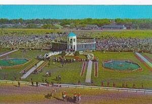 Kentucky Louisville Churchill Downs Infield and Winner's Circle 1973 Hor...