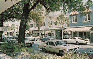 WINTER PARK , Florida , 1950-60s ; Park Avenue lined with Shops & Patio Gardens