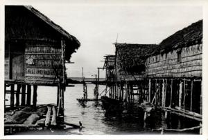 Papua New Guinea, Real Photo Native Papuas, Stilt Houses (1930s) RP (06)