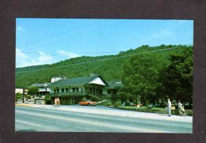TN Whaley Motel Gatlinburg Tennessee Postcard Great Smoky Mtn National Park
