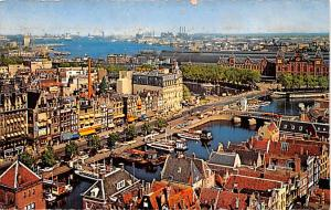 Amsterdam Holland Damrak with view at the Y Amsterdam Damrak with view at the Y