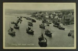 Fishing fleet Gaspé Coast postcard circa20s