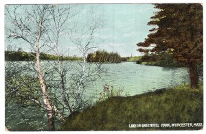 Worcester, Mass, Lake In Greenhill Park