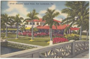 Beautiful Island Home, Fort Lauderdale, Florida, 1950, used Postcard