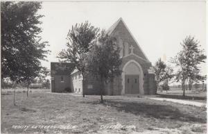 Wisconsin WI Postcard c1940s COLEMAN Trinity Lutheran Church Real Photo RPPC