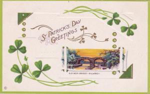 KILLARNEY, Ireland, PU-1914; St. Patrick's Day Greetings, Old Weir Bridge