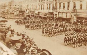 F27/ Ft Worth Texas RPPC Postcard c1915 WWI Troops Parade 1