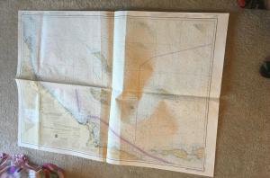 Vintage Nautical Map Chart: 18740 San Diego to Santa Rosa 27th Ed. 4/17/82