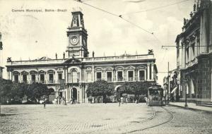 brazil, BAHIA, Camara Municipal, Tram (1911) Mello