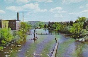 Bonnechere River, Swinging Bridge, Renfrew, Ontario, Canada, 40-60´s