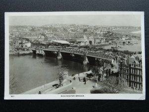 Kent ROCHESTER BRIDGE River Medway c1950s RP Postcard by C. Richter