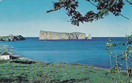 Canada Perce The Magnificent Rocher Perce From Cote Surprise Perce Quebec  1970