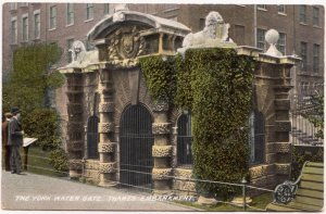 London, The York Water Gate, Thames Embankment, early 1900s unused Postcard