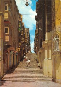 Malta St John's Street Valletta A street of steps Strasse