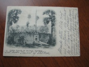 India Postcard 1904 Used UDB Parsi Tower of Silence Bombay
