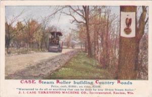 Advertising Case Steam Rollers J I Case Threshing Machine Company Racine Wisc...