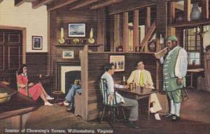 Virginia Williamsburg Chowning's Tavern Interior Curteich
