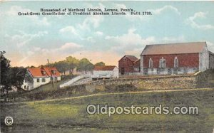 Homestead of Mordecal Lincoln Lorane, PA, USA Unused