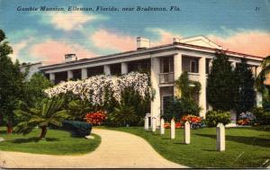 Florida Bradenton Gamble Mansion 1957