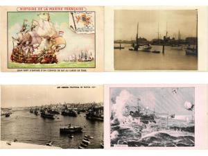 NAVIRE DE GUERRE ,WARSHIPS incl. GRÉCE & U.K. MILITAIRE NAVY SHIPS ,18 CPA