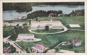 LAKE PLACID, New York, PU-1928; Stevens House And Lake Placid From The Air