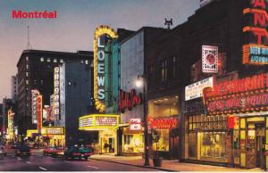 St. Catherine Street, Capitol, Loews, Restaurant, Montreal, Quebec, Canada, P...