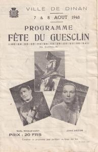 Bertrand Du Geusclin 1948 French Theatre Programme Knight Junie Astor Photo s