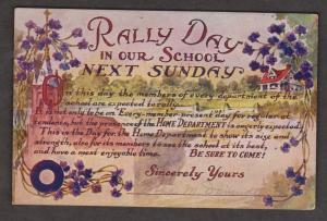Rally Day At Our School - Used c1930 - Unusual