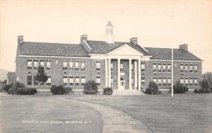 Granville New York High School Exterior Vintage Postcard JA4741595
