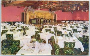 Las Vegas, Nevada Postcard THUNDERBIRD HOTEL Main Dining Room Interior c1950s