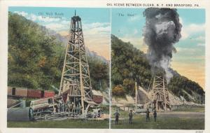 BRADFORD , Pennsylvania , 1910s ; Oil Well ready & The Shot