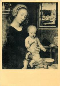 Art postcard GERARD DAVID - La Vierge a la soupe au lait