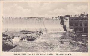 Wisconsin Menomonie Cedar Falls Dan On Red Cedar River Albertype