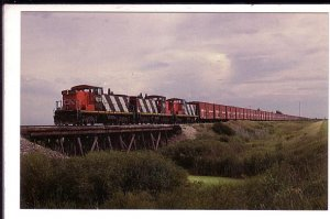 Railway Train, Grain Transport, Neepaws,  Manitoba