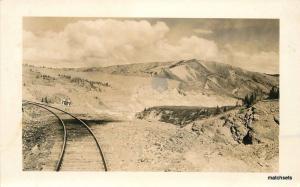 1940s Fairbanks Alaska Railroad Tracks Canns RPPC real photo postcard 6657