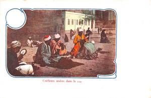 Egypt, Egypte, Africa Coiffeurs arabes dans la rue  Coiffeurs arabes dans la rue