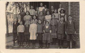 F56/ Omaha Nebraska RPPC Postcard 1910 School Teacher Students