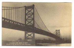 Delaware Bridge at night, 30-50s