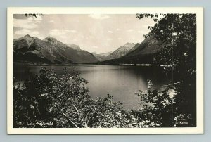 Lake McDonald, Cannon Mtn, Flathead County, Mountain Montana Postcard RPPC