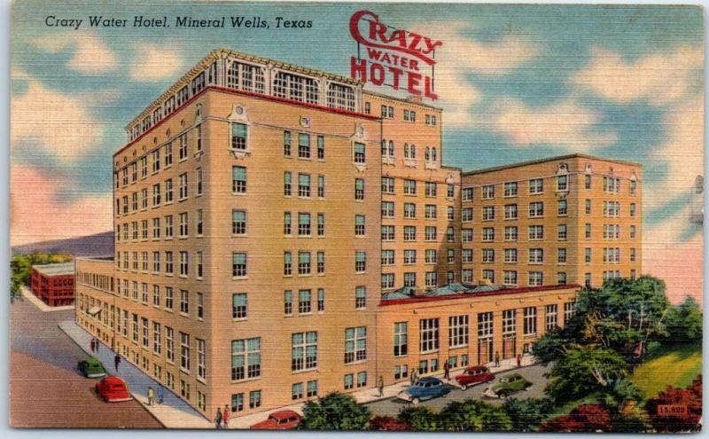 Crazy Water Hotel Mineral Wells, TX Postcard
