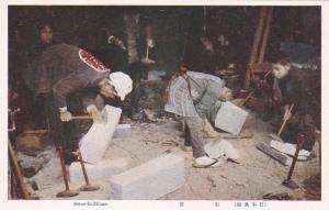Stone Masons at work n, Japan, 1920-1930s