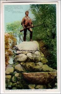 Statue of Captain Parker, Lexington MA