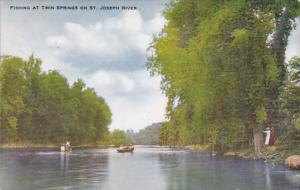Fishing At Twin Springs On St Joseph River Michigan