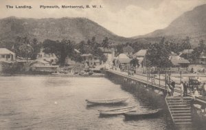 PLYMOUTH , Montserrat , B.W.I. , 00-10s ; The Landing