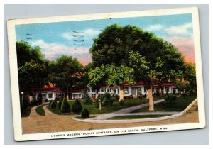 Vintage Mid Century Postcard Moody's Modern Cottages Gulfport MS POSTED