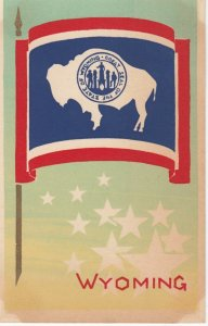 WYOMING , State Flag , 40-50s ; Serigraph