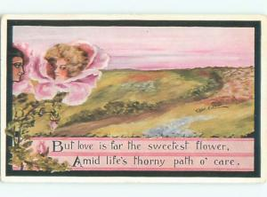 Divided-Back PRETTY WOMAN Risque Interest Postcard AA7895